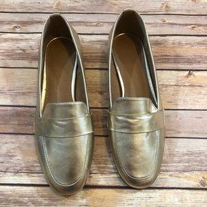 ASOS Gold Loafer Flats